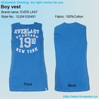 2013 fashion sleeveless and number printing knitted boy vest