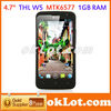 "4.7"" IPS Screen THL W5 Android 4.0 phone MTK6577 Dual core 1GB RAM 4GB ROM Camera Bluetooth"