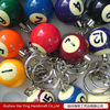 Colorful pool ball keychain