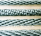 galvanized steel wire rope in different specifications/constructional material