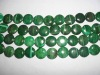 18mm round disk malachite wholesale loose gemstone bead