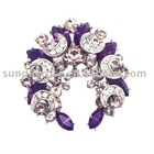 Purple Filigree Crystal Venus Brooch