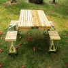 wooden picnic outdoor table