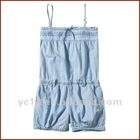 Leisure Style Girls 100% Cotton Spaghetti Strap Jeans Jumpsuit