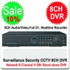 H.264 Full D1 8CH DVR 8 Channel Stand-alone Network DVR Support iPhone, Blackberry, Android, etc