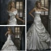 Fancy Newly Designed Ball Gown Satin White Bridal Gown
