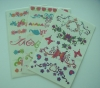 2012 beautiful fashion Tattoo Sticker