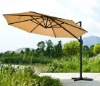alu. side arm parasol with roof vent