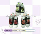 cheap twill baby shoes with plastic sole