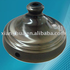 with bronzed plated decorative metal lampshade