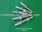 Stainless Steel AISI304 SUS316 Wedge Anchor,Through Bolt,Expansion Bolt,Anchor Bolt,8*70 8*80 10*100 10*120