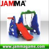 hot and funny outdoor playground eggplant slide and swing combination