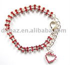 Red rhinestone pet necklace, pet jewelry