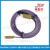 gold plated flat purple HDMI Cable