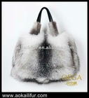 New fashion lady fox fur bag/luxury fur bag