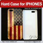 WOW !The Retro Design Flag Smooth Plastic Back Hard Case for IPhone5