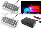 NEW Car Flashing 2*22 44 Emergency LED Strobe Light Red + Blue (full white / full yellow / all red / Full Blue)