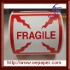 "Extra Large Fragile Shipping Labels, 4"" square,small order accepted"
