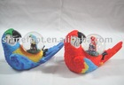 S/4 resin 45mm bird snow globe for home decoration