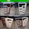 wall rack wall unit modern living room furniture fuzhou wood furniture manufacturer PU cover Melamine cover