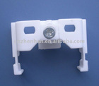 Awning components-plastic curtain runner-curtain rail runner with steel bead inside,curtain accessories