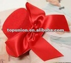Pretty red Bow Hair Clip Mini Top Hat