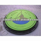 FRP/GRP composite manhole cover with ring (EN124 )