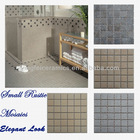 curved mosaic tile rustic feeling many colors