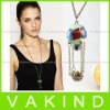 New Girl Mini Cute Pendant Necklace Vintage Colorful Hot Air Balloon Fashion
