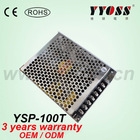 100w triple output 5v, 12v, 24vdc voltage switching power supply (3 years warranty)