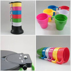 colorful plastic cup set,square tea cup sets cheap tea cup sets