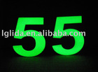 glow in dark numbers door plate