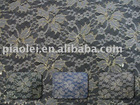Jacquard dress lace fabric with metallic