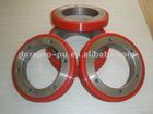 PU Ring Wheel with aluminum core, high precision, no bubble