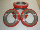 PU Ring Wheel with aluminum core, high precision, no bubble