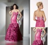 sexy strapless beading sweetheart taffeta ruffle skirt girl prom dresses OLP001