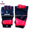 High quality Leather half finger fighting MMA gloves