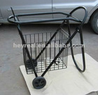 Trolley hangers with basket
