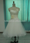 New Arrival Sweetheart Neck Real Picture Pure White Organza Evening Dress