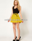 Beautiful fashion cultivate morality fold heart-shaped logo short skirt