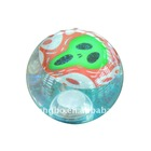 led bounce water ball with Halloween card inside/spiky bouncing ball/colourful flashing water bouncing ball