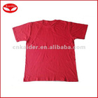 Basic cotton T-shirt,plain red t shirt,sublimation t shirts blank