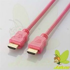 Pink Solid Color HDMI M to M Cable