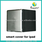 front leather cover and back Hard Case for ipad 2