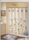 100% polyester bath shower curtains