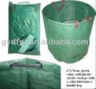 PE garden bag with woven belt