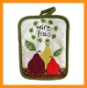 Wal-Mart supplier printed oven mitt,printed cotton pot holder