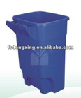 240L Outdoor plastic garbage bin, dustbin, trash can, litter bin with lid and wheels DX-RM01