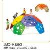 JMQ-K129G playground teepee climbing frame,mobile rock climbing wall,kids indoor climbing wall