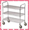 3 tier chrome wire catering cart